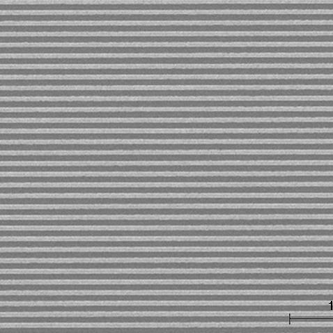 SEM image of 60 nm pitch grating